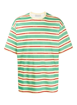 drole de monsieur vintage striped tee loose fit green red beige ss 2020