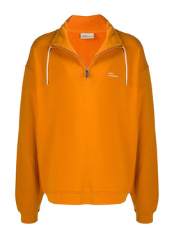 drole de monsieur zipped sweatshirt orange aw 2020