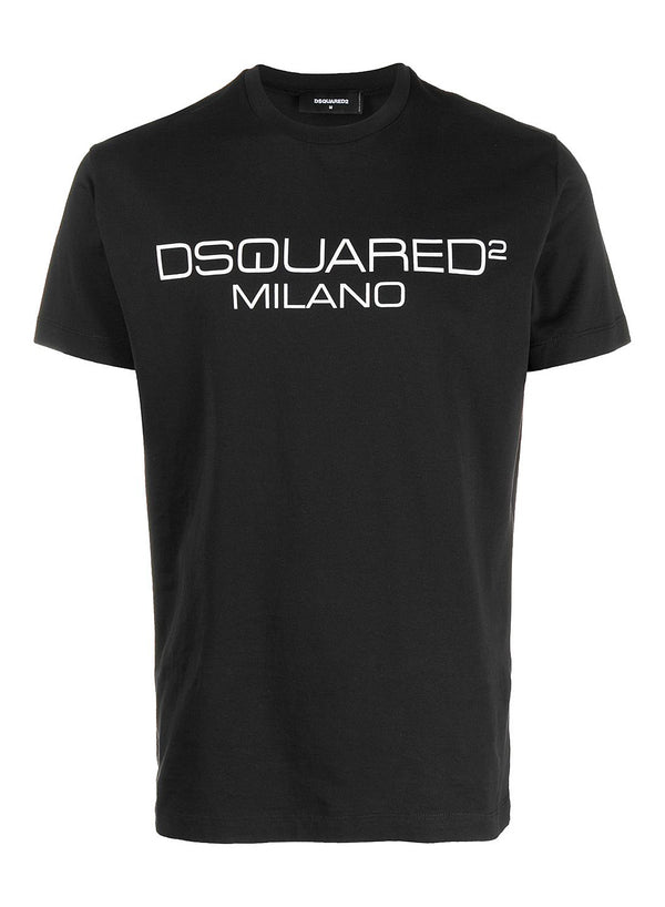 dsquared2 milano logo tee black ss 2020
