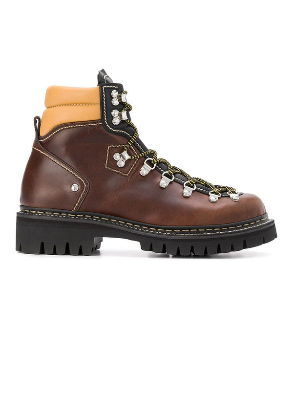 dsquared2 ankle hiking boot brown aw 2020
