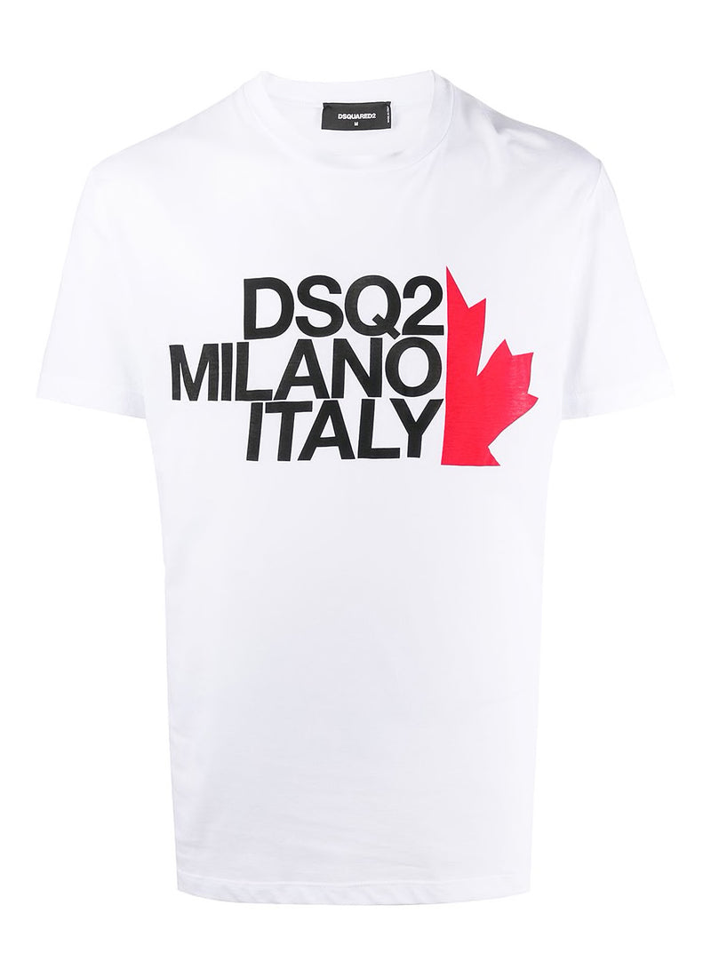 dsquared2 best fade dye half maple leaf tee white aw 2020