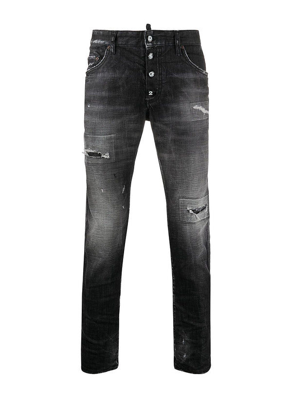 dsquared2 black wash skater jean black aw 2020