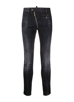 dsquared2 black wash super twinky biker jean black aw 2020