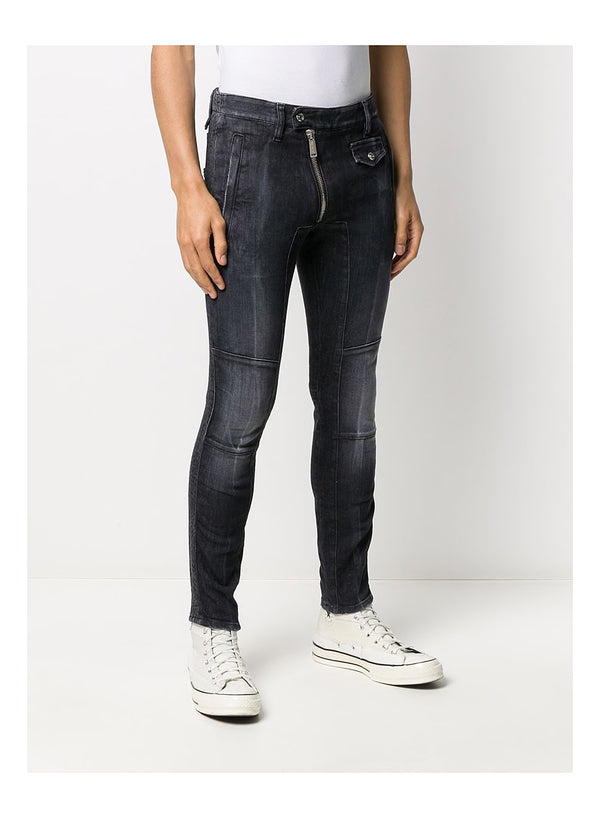 Black Wash Super Twinky Biker Jean - Black