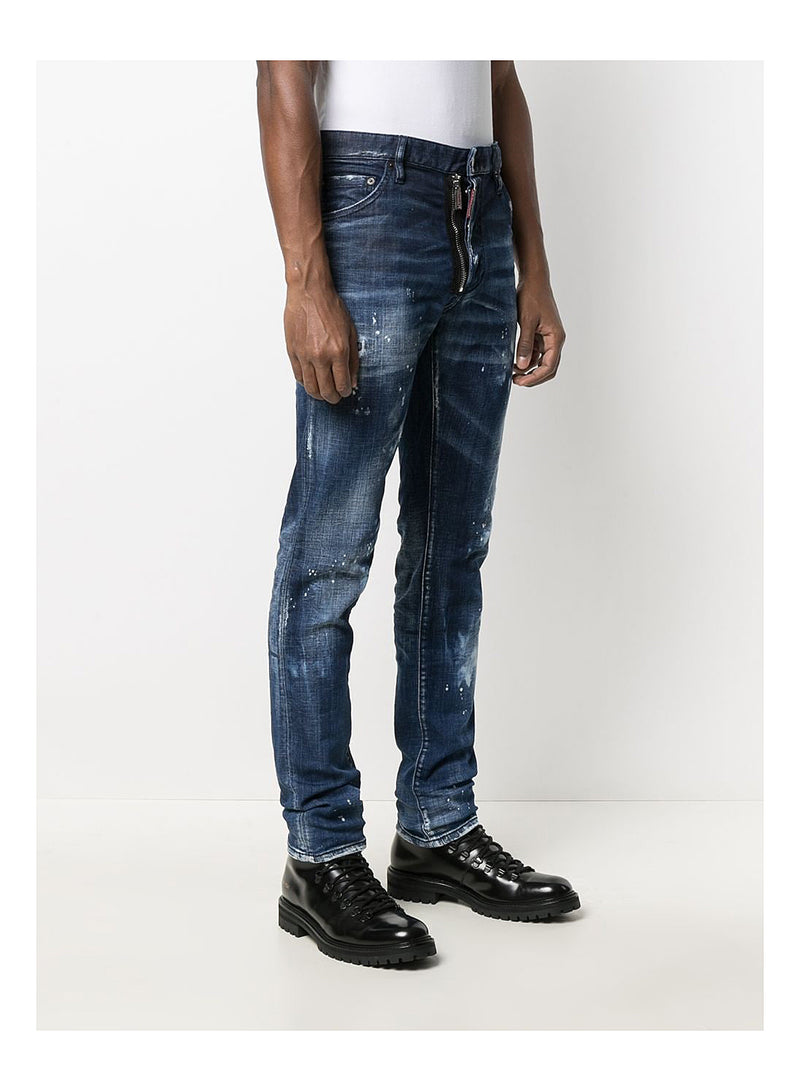 Bleached Spots Cool Guy Jean - Mid Wash