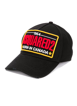 dsquared2 born in canada logo cap black aw 2020
