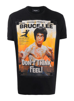 dsquared2 bruce lee dont think tee black ss 2020