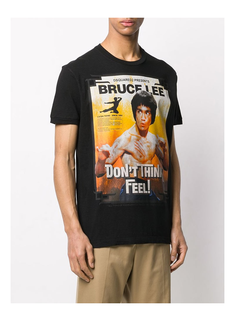 Bruce Lee Dont Think Tee - Black