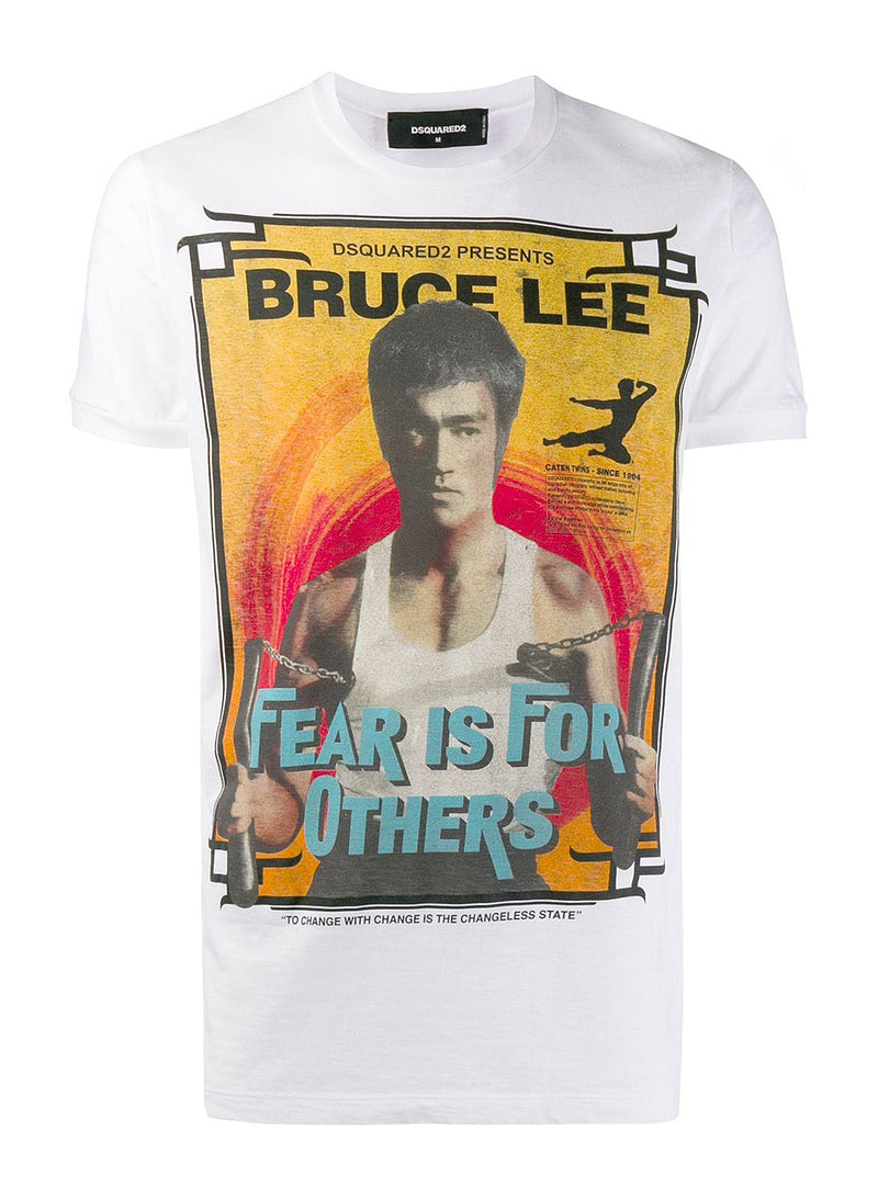 dsquared2 bruce lee fear tee white ss 2020
