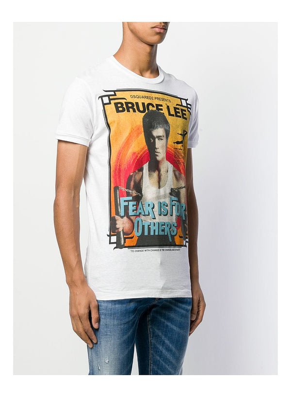 Bruce Lee Fear Tee - White