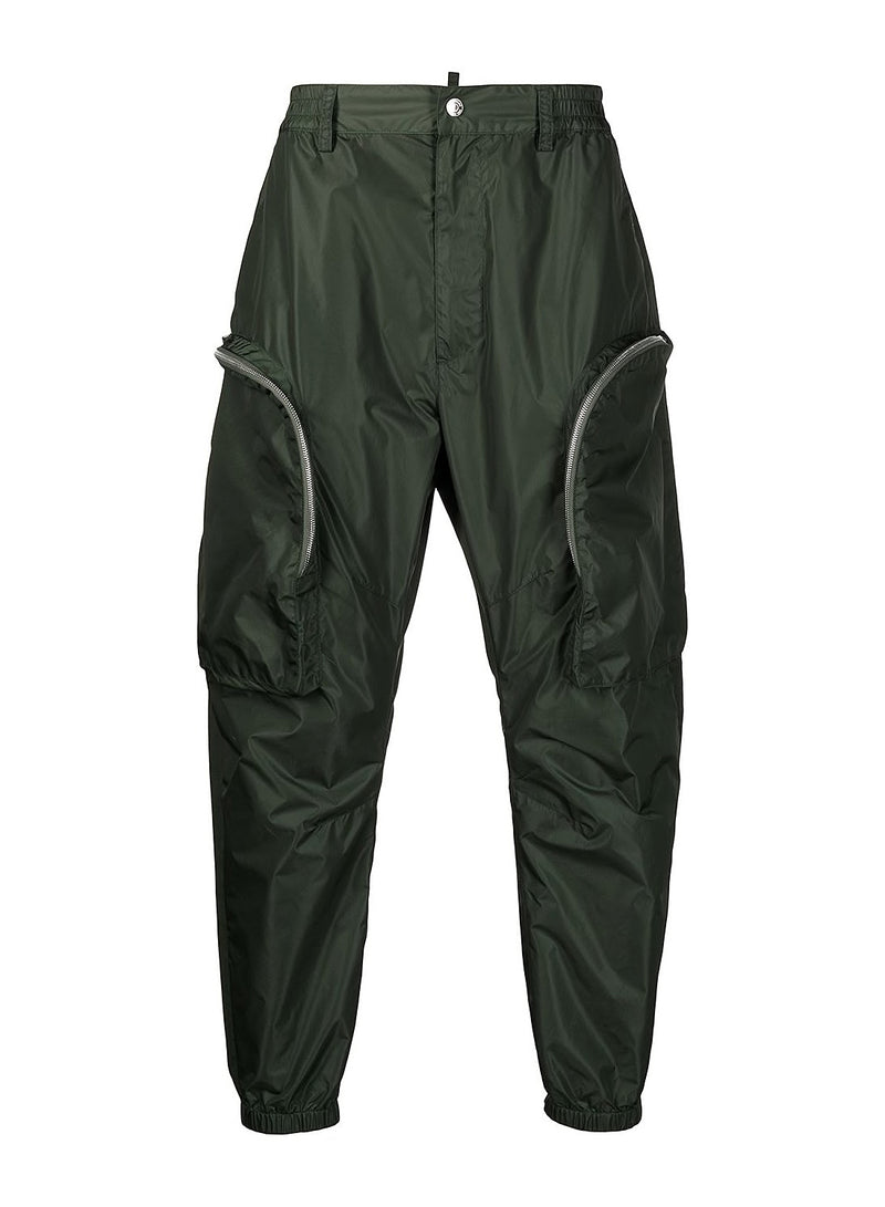 dsquared2 cargo trousers green ss 2021