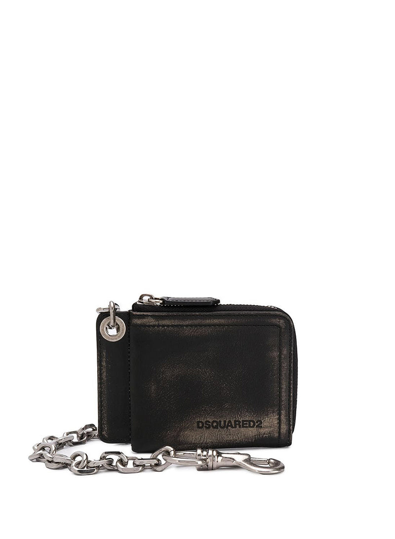 dsquared2 chain wallet black aw 2020