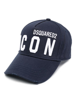 dsquared2 classic embroided icon cap navy ss 2021