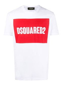 dsquared2 cool fit square logo tee white aw 2020