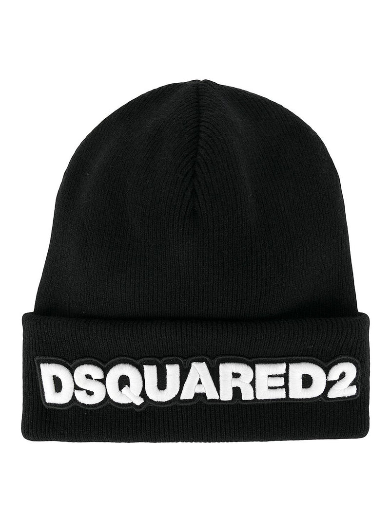 dsquared2 dsquared2 beanie black white aw 2020