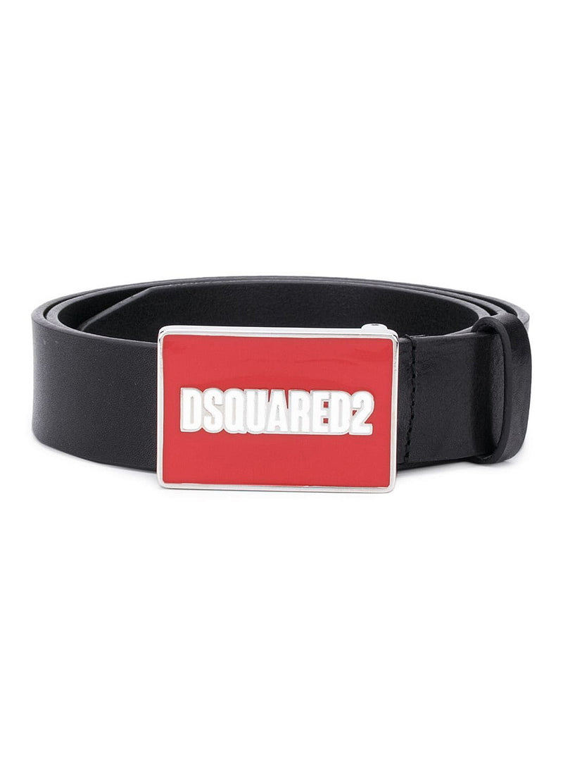 dsquared2 dsquared2 belt black red aw 2020