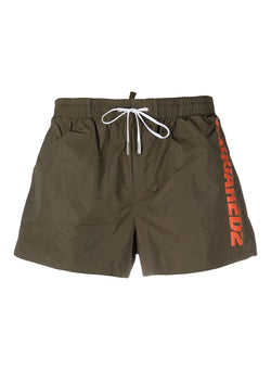 dsquared2 dsquared2 branded swim shorts green ss 2021