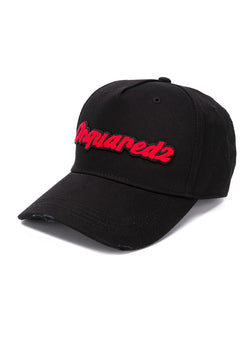 dsquared2 dsquared2 logo cap black red aw 2020