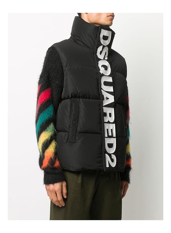 Dsquared2 Placket Gilet - Black