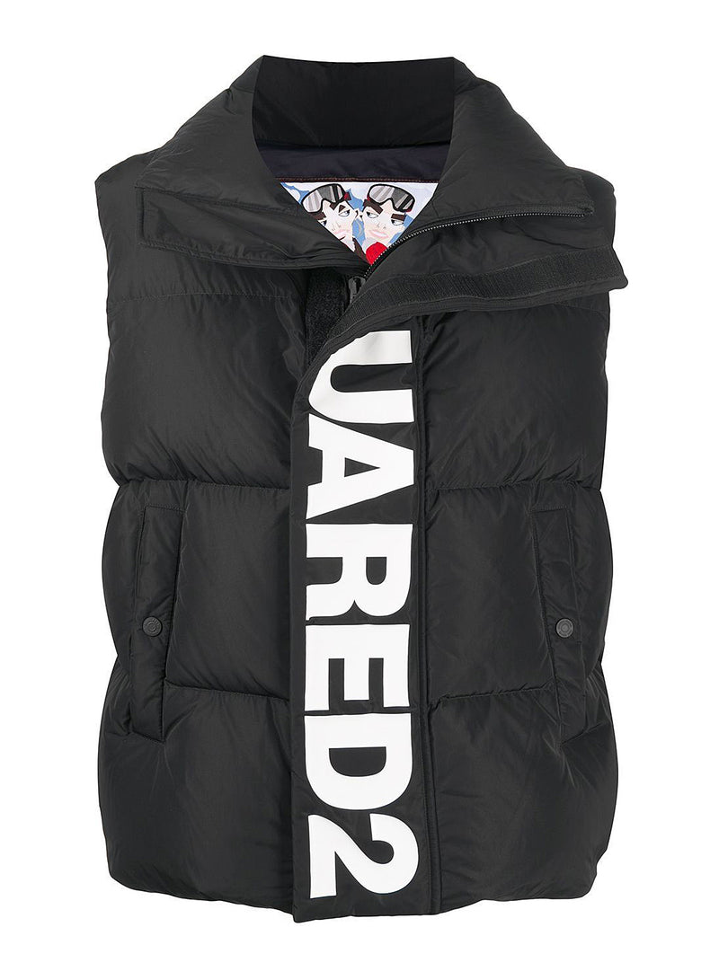 dsquared2 dsquared2 placket gilet black aw 2020