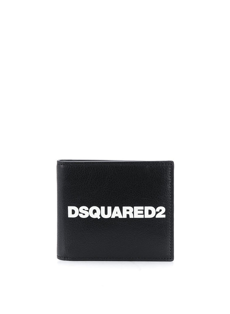dsquared2 dsquared2 wallet black white aw 2020