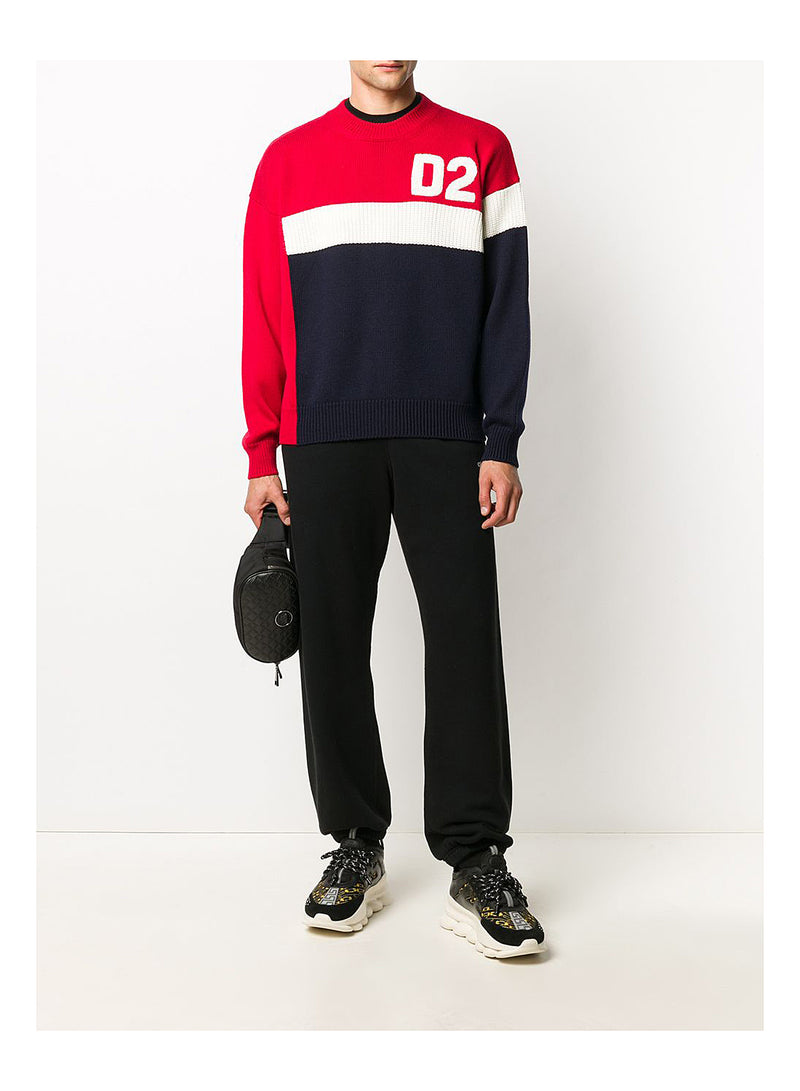 F5 Knit Sweat - White/Red/Nay