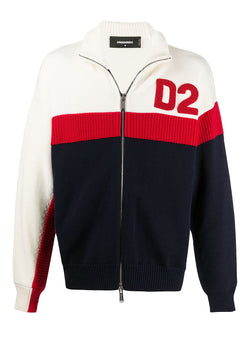 dsquared2 f5 knit track top white red nay aw 2020