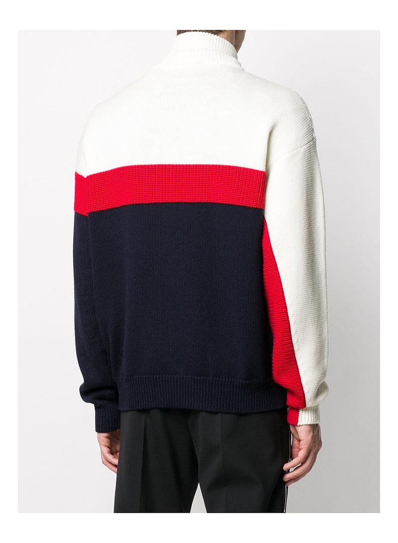 F5 Knit Track Top - White/Red/Nay