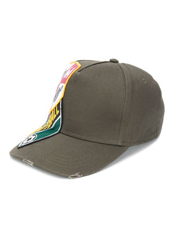 dsquared2 football badge cap green aw 2020