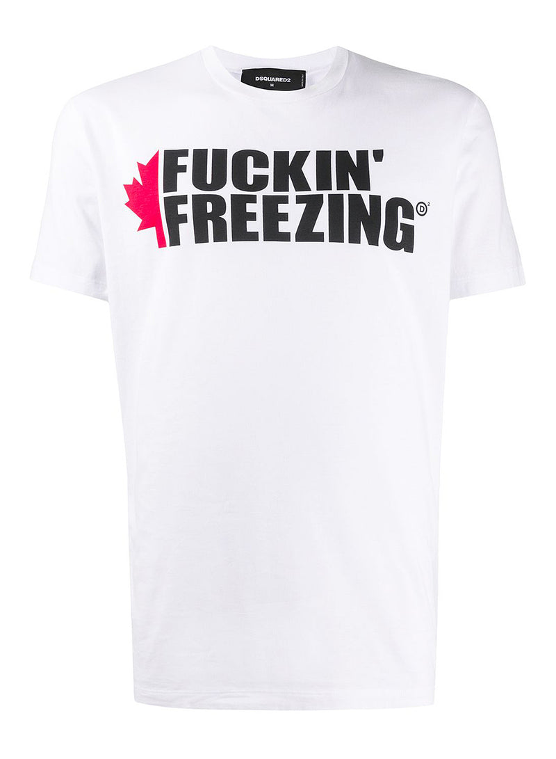 dsquared2 freezing tee white aw 2020