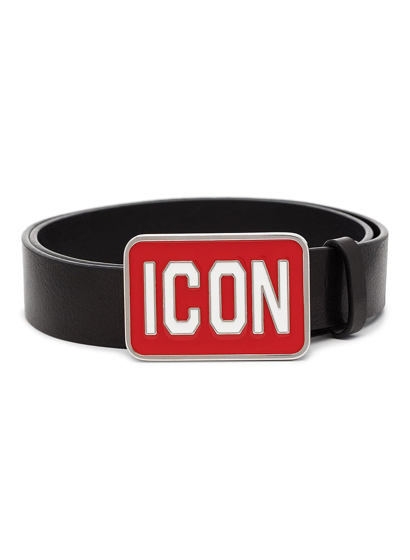 dsquared2 icon belt black red aw 2020