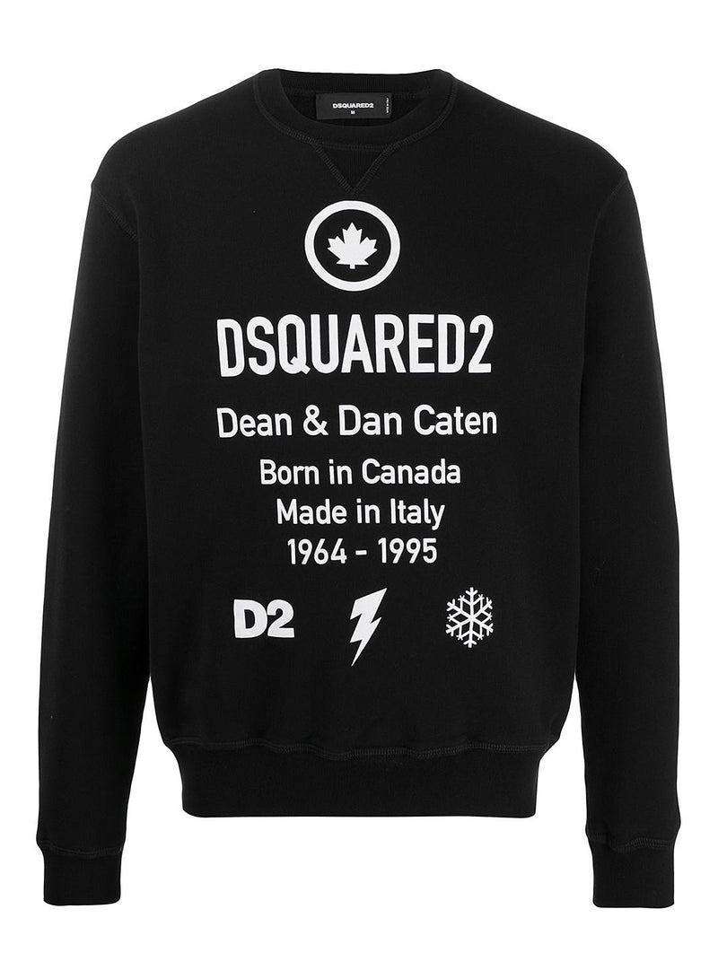 dsquared2 information sweat black aw 2020