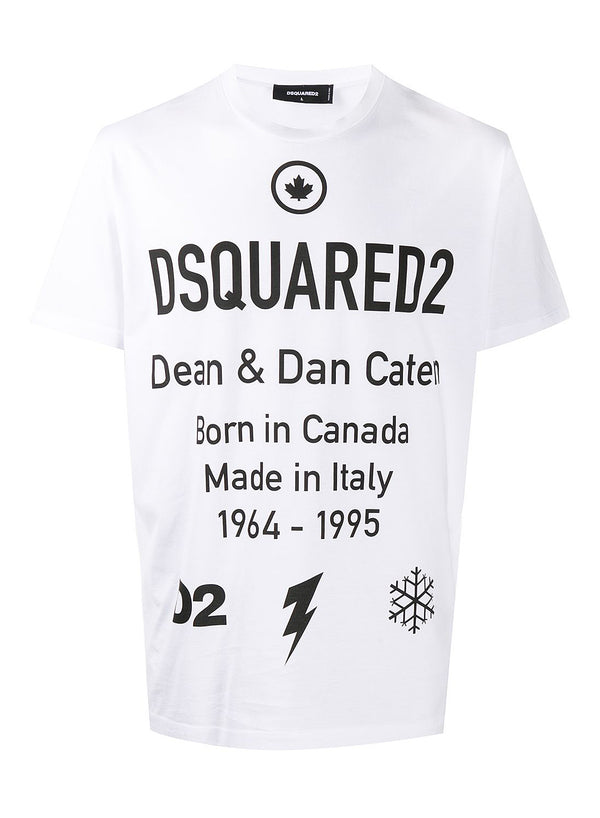 dsquared2 information tee white aw 2020