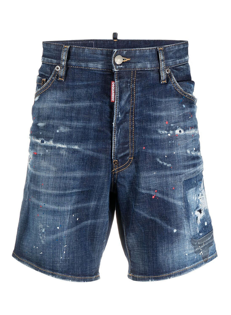 dsquared2 made with love denim shorts blue ss 2021