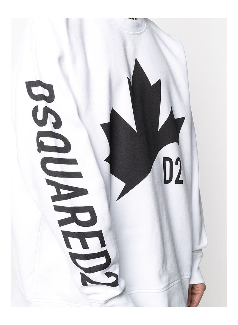 Maple Leaf Sweat - White