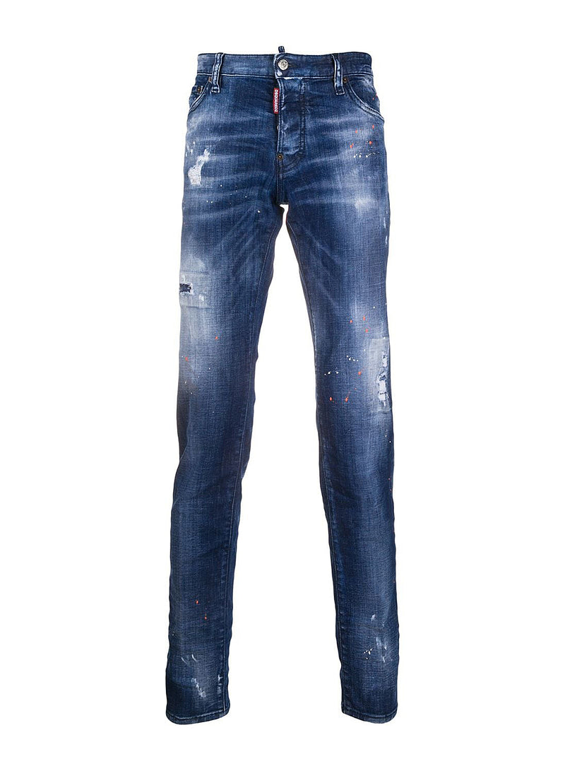 dsquared2 medium orange country wash jean blue aw 2020