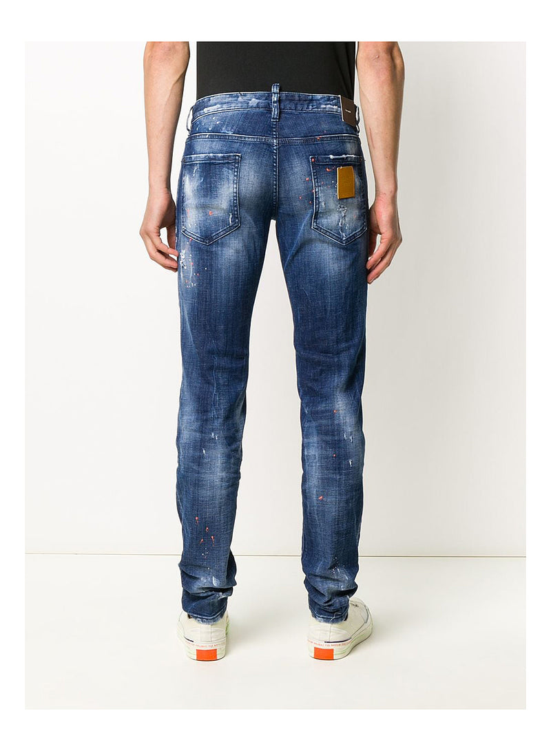 Medium Orange Country Wash Jean - Blue