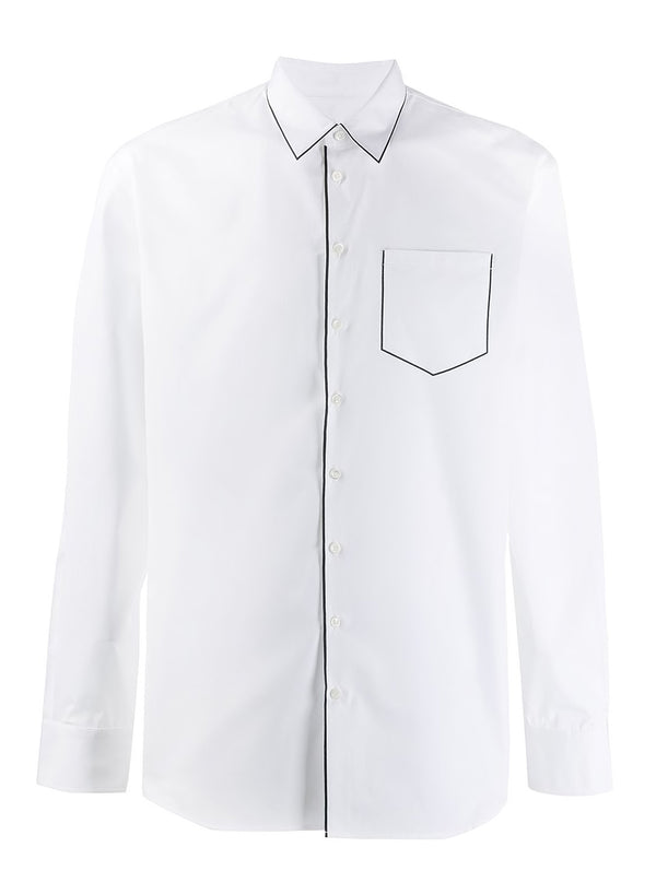 dsquared2 piped shirt white ss 2020