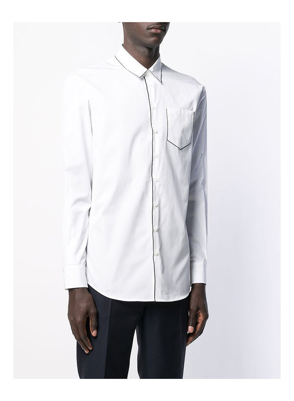 Piped Shirt - White
