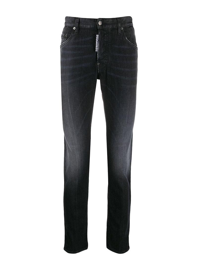 dsquared2 pocket distress skater jean black ss 2020