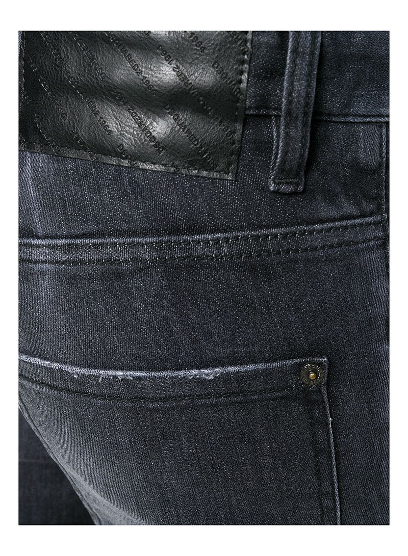 Pocket Distress Skater Jean - Black