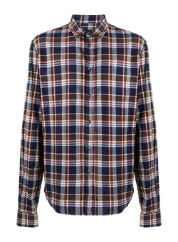 dsquared2 relax dan tartan shirt blue brown white red aw 2020