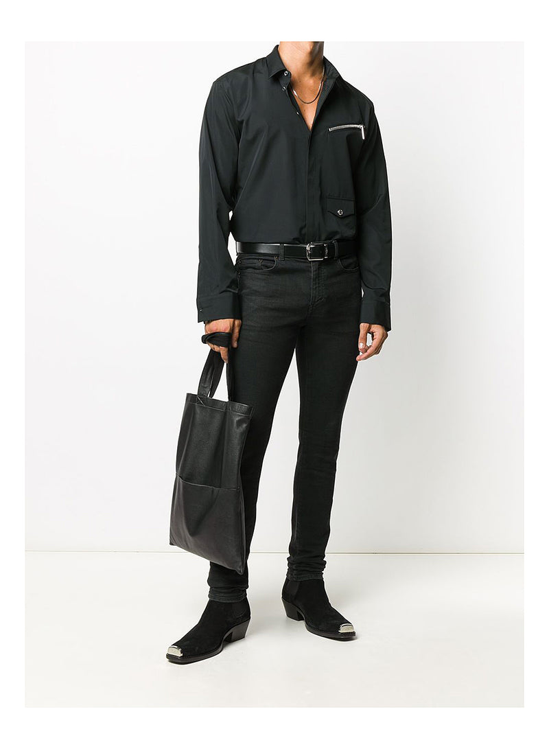 Relax Zip Pocket Shirt - Black