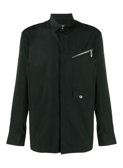 dsquared2 relax zip pocket shirt black aw 2020