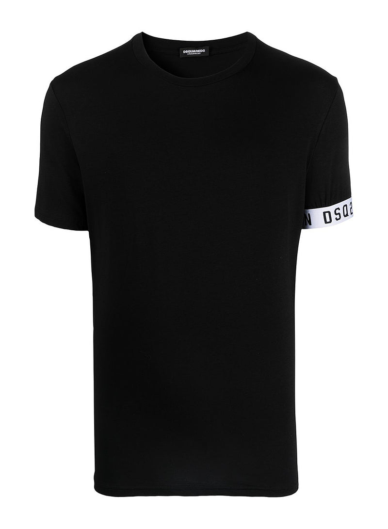 dsquared2 round neck tee black ss 2021