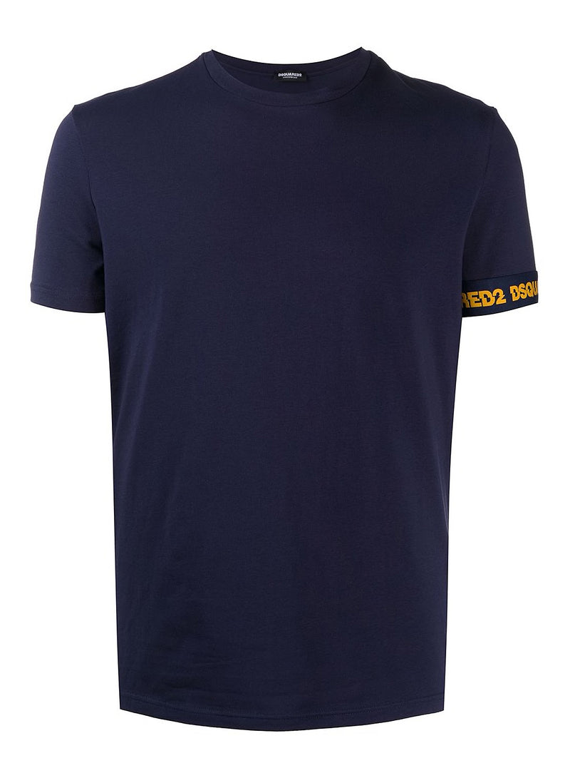 dsquared2 round neck tee navy aw 2020