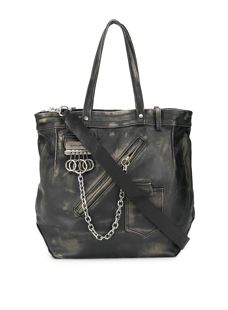 dsquared2 shopping bag black aw 2020