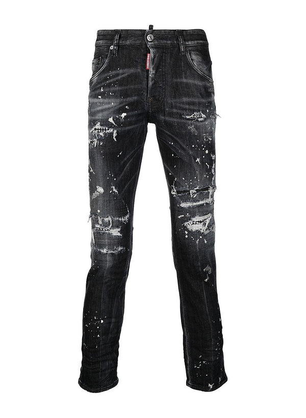 dsquared2 silver paint skater jean black ss 2021