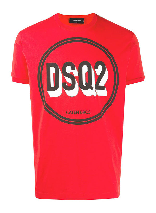 dsquared2 supernegative dyed tee coral ss 2020