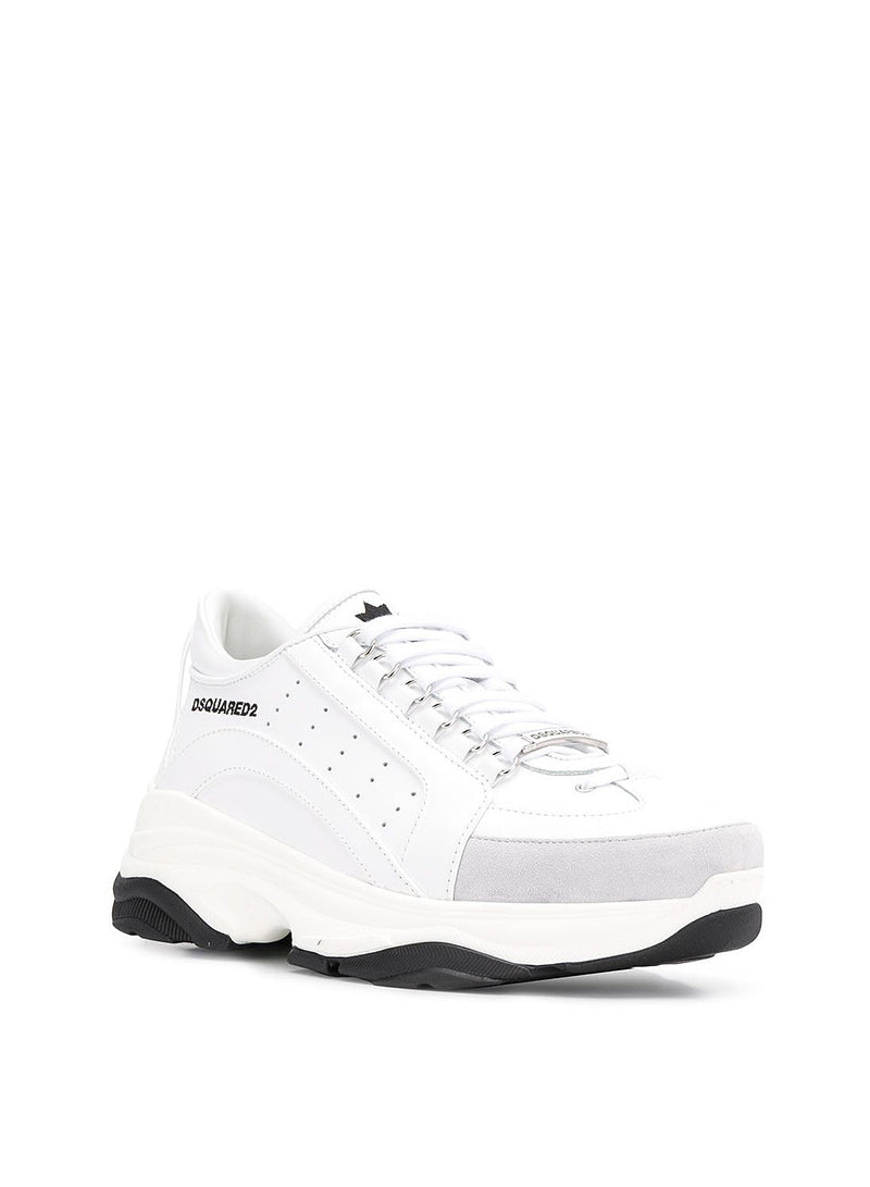 Vitello High Sole Sneaker - White
